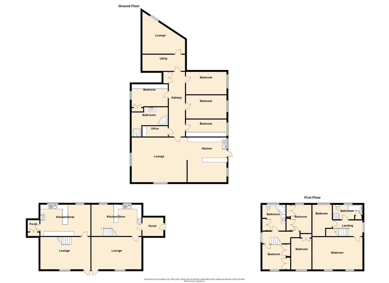 9 Bedroom Barn Conversion For Sale - Floorplan 1